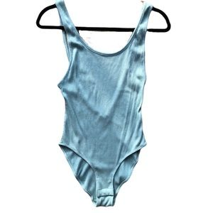 NWOT UO Out From Under Light Blue Ribbed Bodysuit